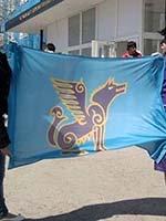 Грифон на новодельном ногайском флаге