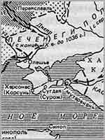 Карта Таманского полуострова в античности
