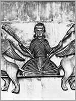 «Вознесение Александра Македонского». Рельеф сев. фасада собора Сан-Марко в Венеции. 12 в.