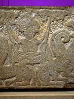 «Вознесение Александра Македонского». Барельеф, Мистрас, Греция 14 в.