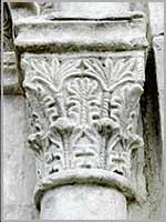 Капитель колонны церкви Покрова на Нерли. Боголюбово