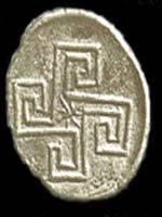 Свастика на Монете, Крит, 1500-1000 до н.э.
