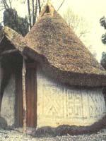 Свастика на Этрусской хижине (реконструкция).