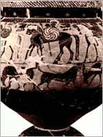 Свастика на Кратере (вазе), 560 г. до н.э.