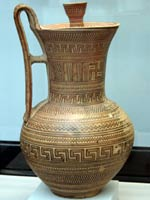 Свастика на Кувшине, Аттика, 740 г. до н.э.
