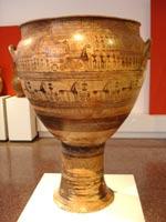 Свастика на Кратере (вазе), Аттика, 750 г. до н.э.