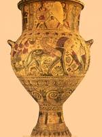 Свастика на Пифосе (амфоре), Киклады, 640 г. до н.э.