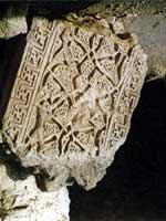 Свастика на развалинах на острове Киш, Персия