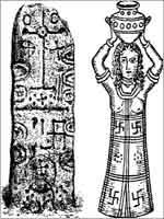 Свастика на Финикийском символе солнца