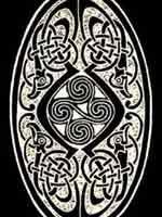 Свастика в кельтском узоре.