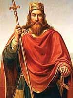 Один из последних Меравинглей – Чилдерик Второй (Childeric II), картина неизвестного автора, сделанная по старинному рисунку