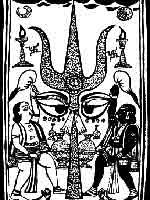 Свастика на трезубце Вишну