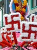 Свастика на празднике в честь богини Лакшми