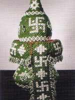 Ритуальный свадебный сосуд «пурна-кубха» со свастикой