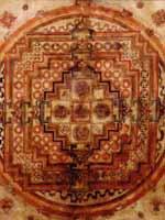 Свастика на старинной тибетской мандале