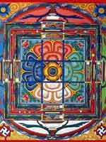 Свастика на тибетской мандале
