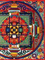 Свастика и коловрат на тибетской мандале