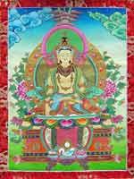 Свастика в руке основателя религии Бон Шенраба. Танка