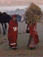 Свастика на одежде тибетских монахов