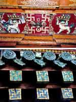 Свастика внутри тибетского храма
