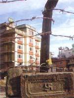 Свастика в Непале. Кирпич