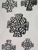 Свастика на Несторианском кресте. Монголия