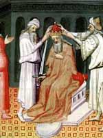 Иллюстрация книги из Марко Поло. Коронование Чингисхана