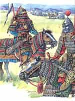 Вооружение армии Чингисхана. Тяжеловооружённые всадники