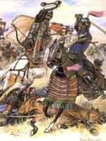 Поединок русского и золотоордынского воина