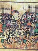 Куликовская битва. Миниатюра из сказания о Мамаевом побоище. 17 век