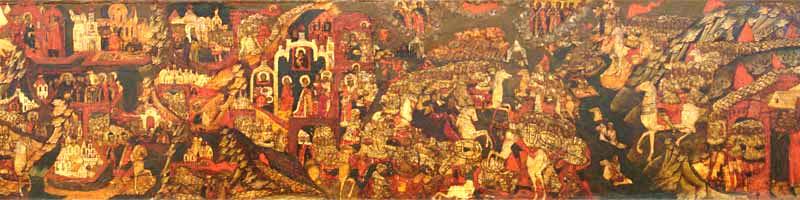 Фрагмент иконы «Сергий Радонежский. Житийная икона». Куликовская битва