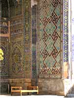 Узбекистан. Самарканд. Свастичный орнамент на здании