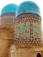 Узбекистан. Самарканд. Свастика на мавзолее Казы-заде-Руми