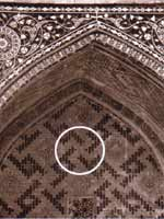 Узбекистан. Бухара. Свастичный орнамент на мечети