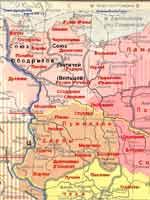 Карта расселения западных славян