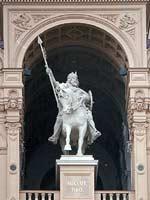 Конная статуя князя Никлота в Шверинском замке герцегов Мекленбургов