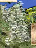 Картра со славянскими топонимами в Германии