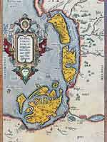 Карта Рюгена, Уседома и Юлина. Атлас Абрама Ортелиуса. Theatrum Orbis Terrarum, 1612