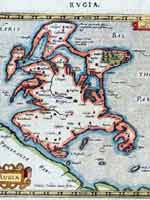 Карта Рюгена Герхарда Меркатора (1512-1594)