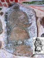 Камень Свантевита (Svantevitbild) в церкви деревни Альтенкирхен