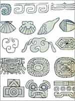 Свастика в старинных ацтекских иероглифах