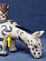 Старинная керамика индейцев Уари, Перу