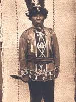 Свастика в индейском национальном костюме