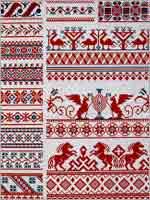 Восьмиконечная «Звезда Сварога» в славянской вышивке