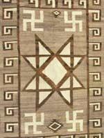 Свастика на индейских стёганых одеялах