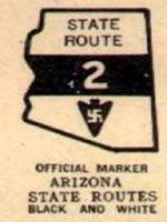 Свастика на американском дорожном знаке 1920 г, Аризона