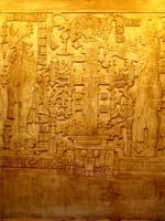 Крест в храме в городе Паленке, Мексика