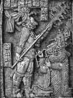 Сцена ритуального кровопускания ацтекской знати