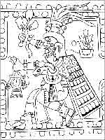 Крылатый бородатый Кецалькоатль с крестом