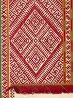 Сборник Стасова 1872 года. Вышивка на женской рубашке. Выборгская губ. уезд Нейкирхен